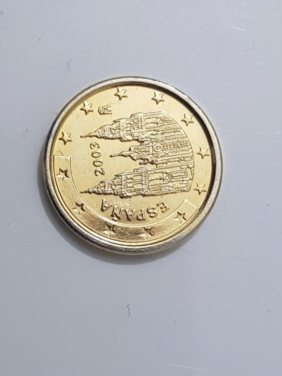 Moneda 1 centimo españa 2003 dorada 20191113