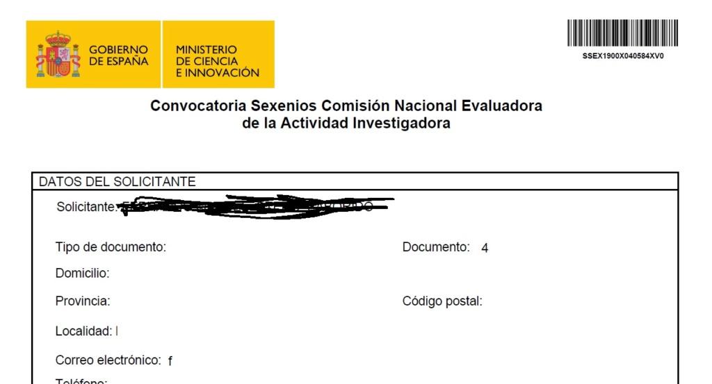 Firma y registro de la solicitud Solcii10