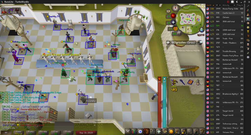 TurtleWurdle's Achievement Diary + 99 Attack Cape Event: 50M Drop Party, Hide & Seek, and Chambers Mass. (Sunday September 13, 2020, 17:00 UTC)  2020-011