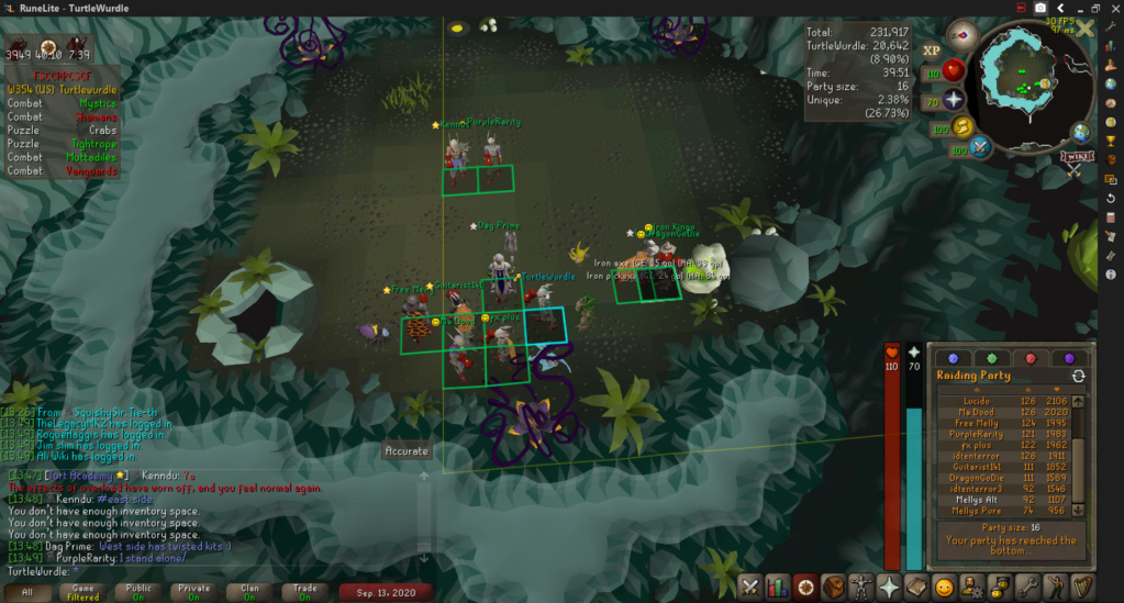 TurtleWurdle's Achievement Diary + 99 Attack Cape Event: 50M Drop Party, Hide & Seek, and Chambers Mass. (Sunday September 13, 2020, 17:00 UTC)  2020-013