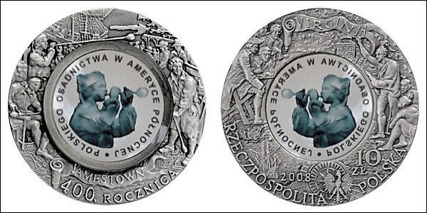 2 monedas de 10 Zloty de 2008 Polonia Ch_aae10