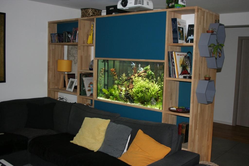 Aquarium intégré dans bibliothèque Img_8413