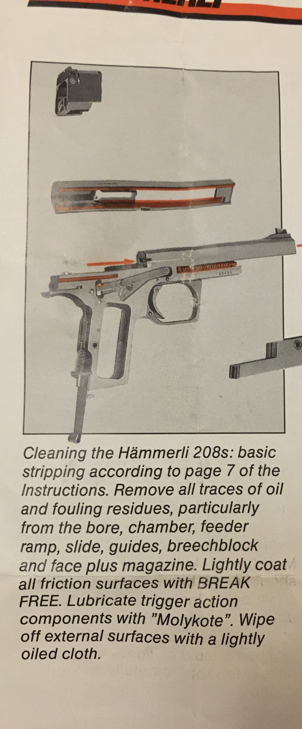 Cleaning a Hammerli 208 and variants Img_9610