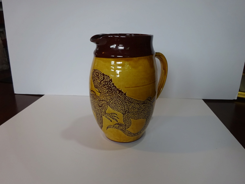 Large slipware sgraffito jug, DjH mark  Dsc00010