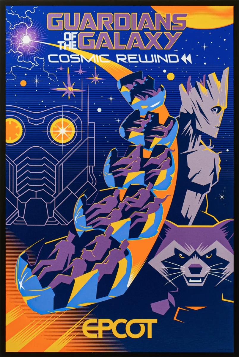 Affiches des Attractions du Parc Walt Disney Studios Cosmic10
