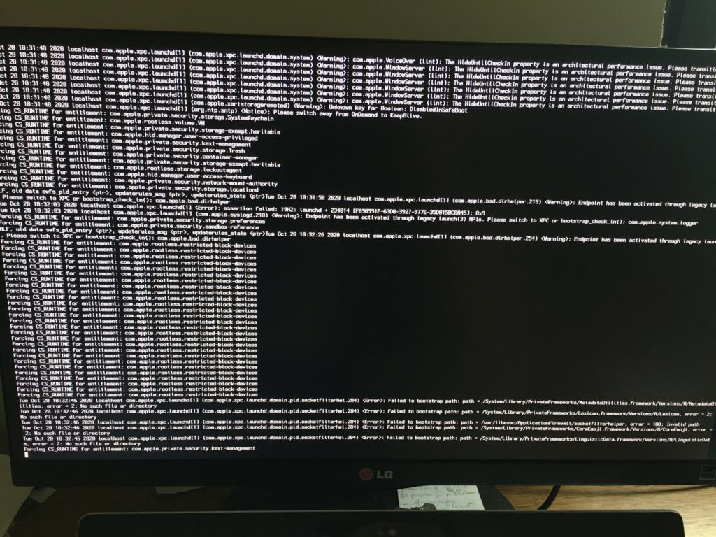 Problème reboot PC - Install Cataline depuis clé USB Img_1510