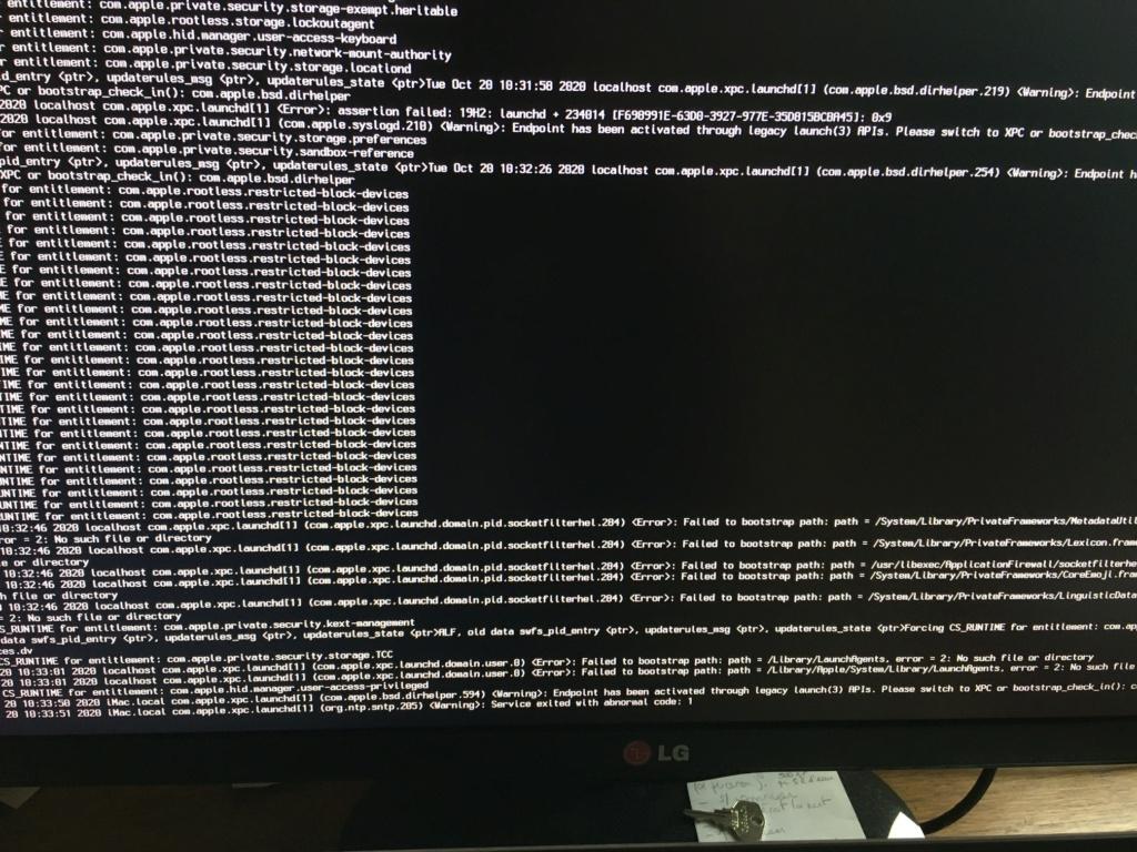 Problème reboot PC - Install Cataline depuis clé USB Img_1511