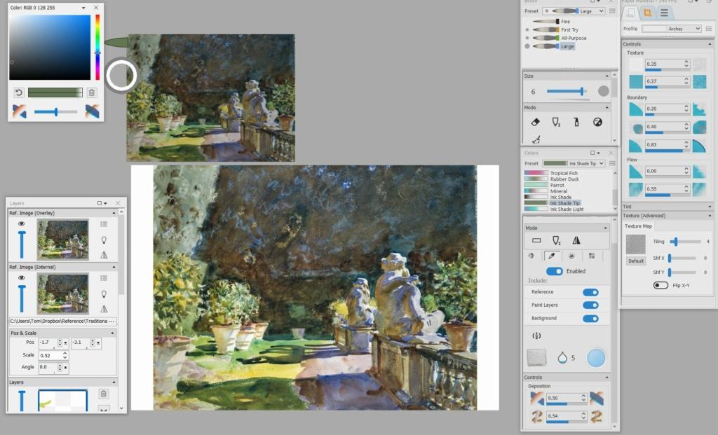 Feature request: Allow Ref image (External) to color pick Captur10