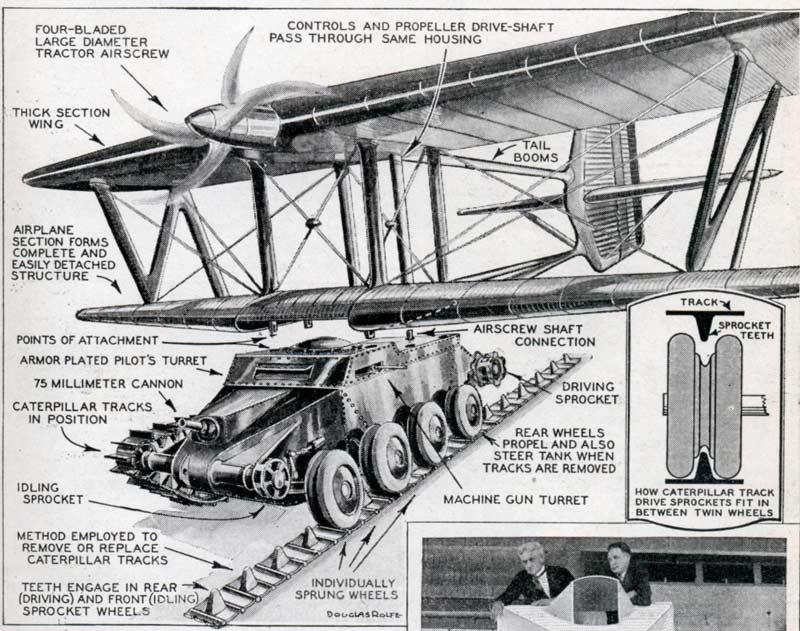 Projets de chars volants des années 1930 et 40 70441210