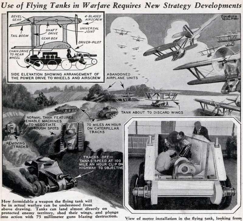 Projets de chars volants des années 1930 et 40 70441211