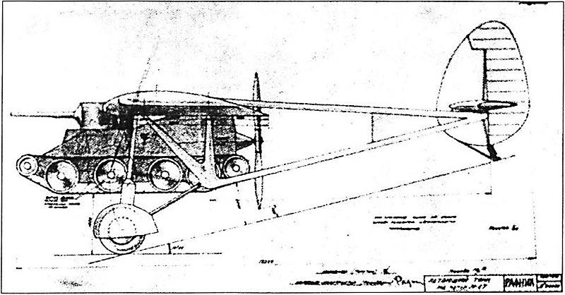 Projets de chars volants des années 1930 et 40 Rafnik11