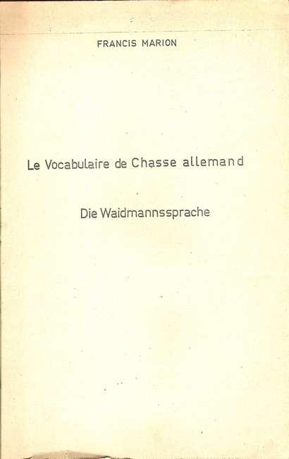 Termes de chasse germaniques / alsacien 21-04-10
