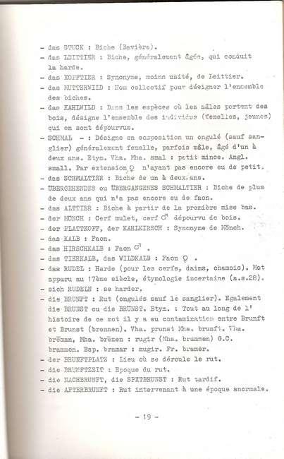 Termes de chasse germaniques / alsacien 21-04-11