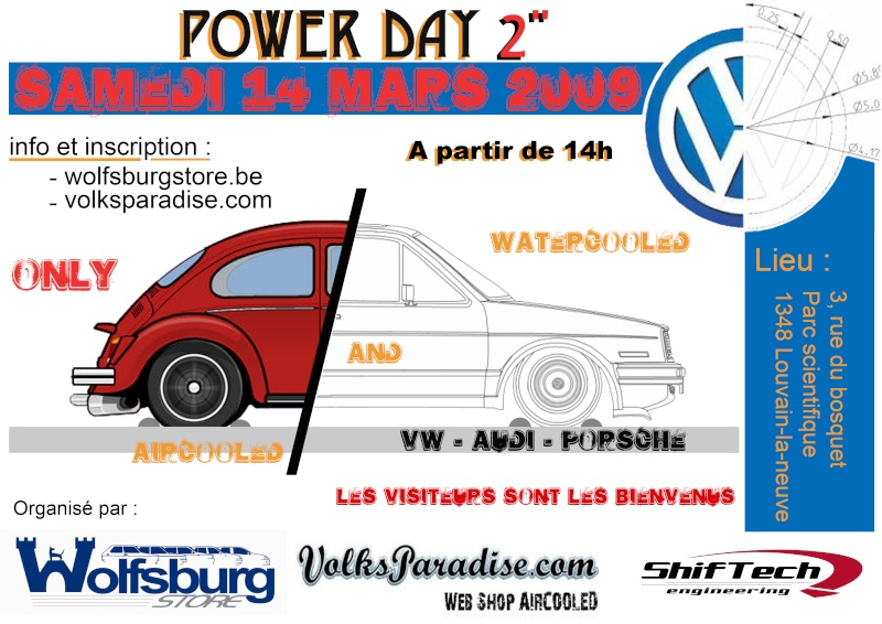 [Belgium]  Water & Aircooled Power Day 14/03/2009 Affich15