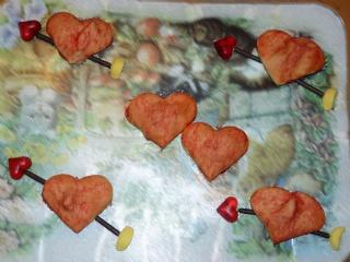 Biscuits, macarons, muffins et cupcakes de Saint Valentin Coeurs10
