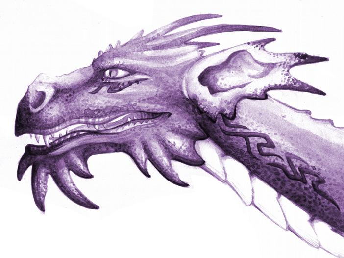 Dragons mauves Painti10