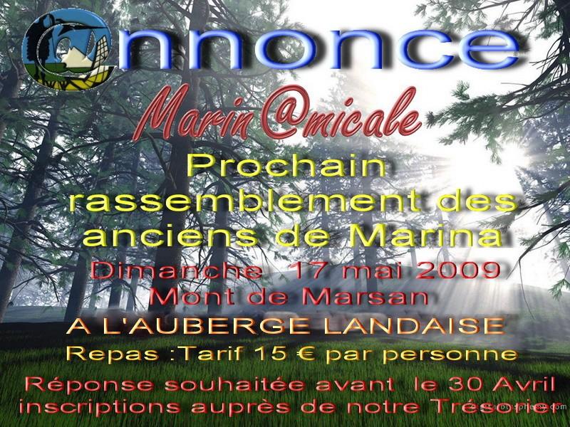 INVITATION  ANCIENS DE MARINA ET SYMPATHISANTS Annonc10
