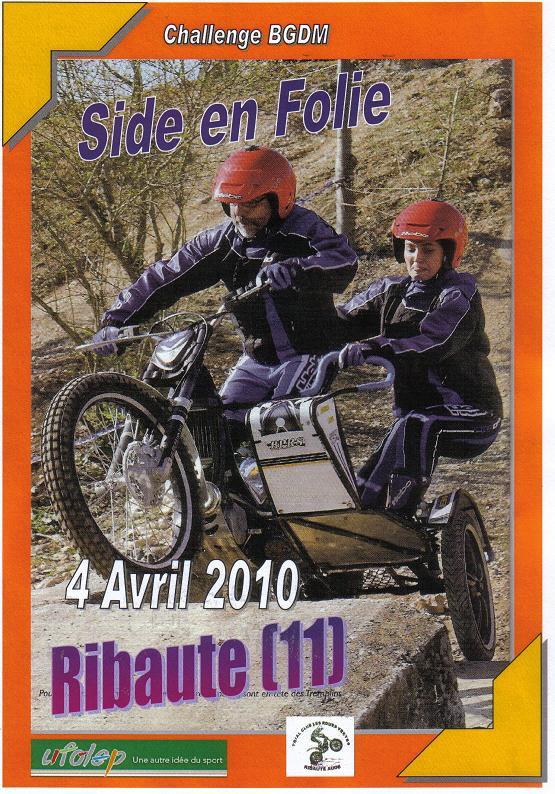 OUVERTURE DU CHAMPIONNAT DE FRANCE DE SIDE CAR TRIAL Ribaut11