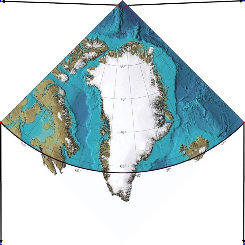Essai - construction d'un overlay des zones polaires sur GE Polair10