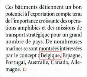 le BPC DIXMUDE intéresse la Belgique ? 2010_m17