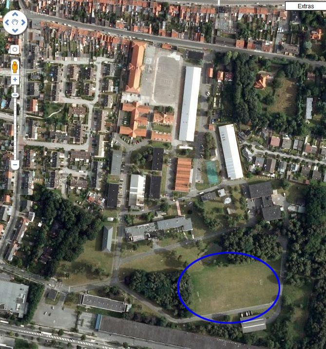 Sint Kruis de nos jours vu par satellite Bruges10