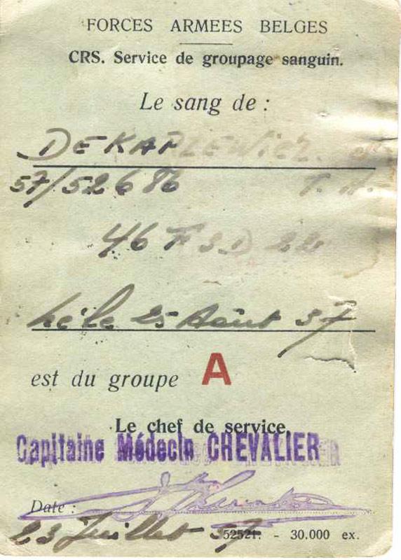 Serge de Kapzewicz un ancien de l'Artevelde en 58 Carte-10