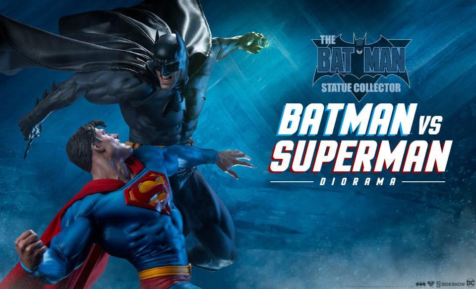 Batman statue collector reveals new SS Batman vs Superman Diorama! 36913211