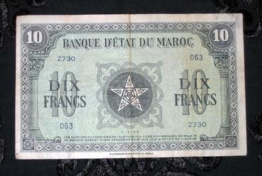 Les Timbres, Monnaies et Pièces du Maroc 10fran10