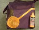 peindre un écarteur de danger en lieu et place sur sacoche de cyclocampeur Sacoch10