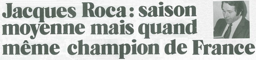 Jacques Roca: Champion de France Jacque10