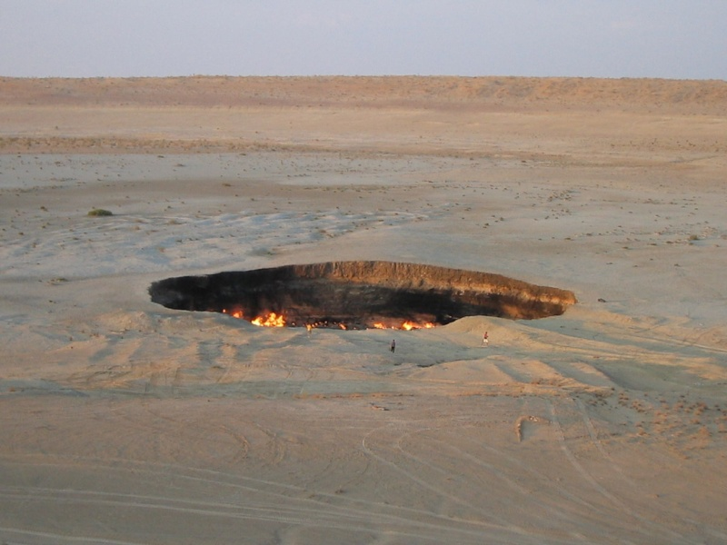 La porte de l'enfer - Darvaza - Turkménistan 40bthe10