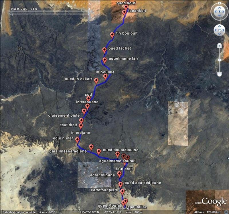 Sahara - Algérie Mauritanie Maroc Tunisie [fichier Traces GPS pour Google Earth] Captu260
