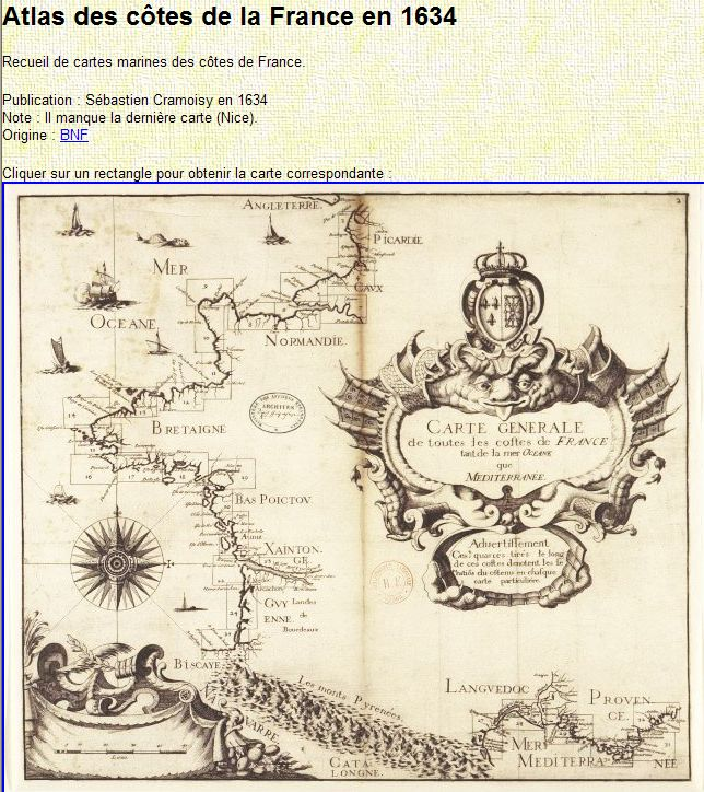 Cartes Marines - Nautical Maps - Cartas Nauticas Captu305