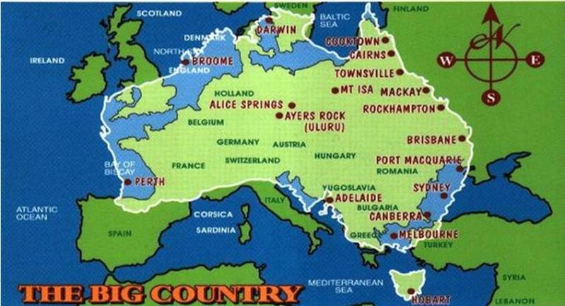 Carte Australie Sur Europe.Cartes Etranges Et Curieuses