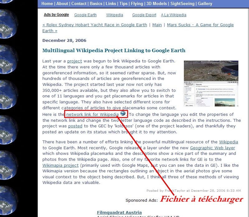 Wikipedia multilingue pour Google Earth. Captu331