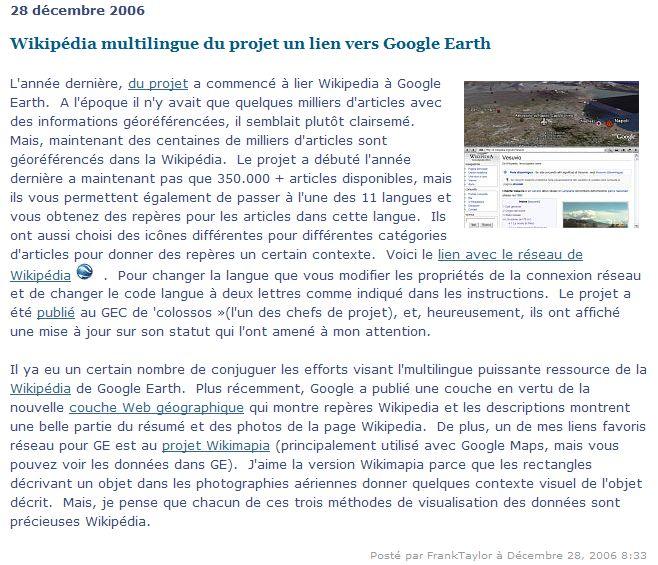 Wikipedia multilingue pour Google Earth. Captu332