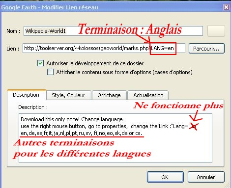 Wikipedia multilingue pour Google Earth. Captu336