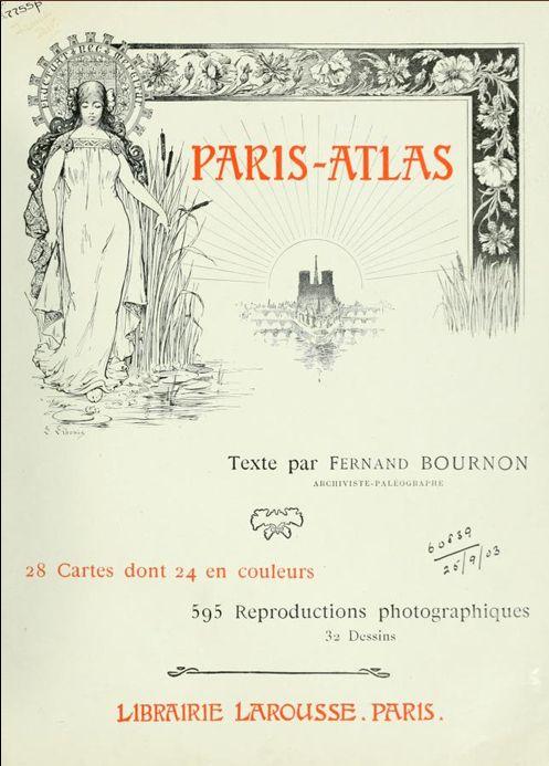 PARIS ATLAS de Fernand Bournon (1900) Captu373