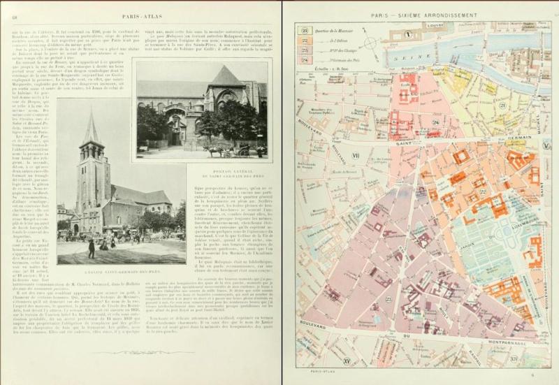 PARIS ATLAS de Fernand Bournon (1900) Captu374