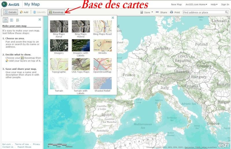 Cartes d'ArcGIS en overlay sur Google Earth Captu492