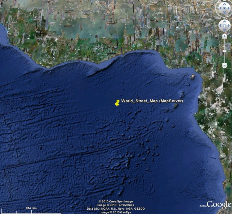 Cartes d'ArcGIS en overlay sur Google Earth Captu607