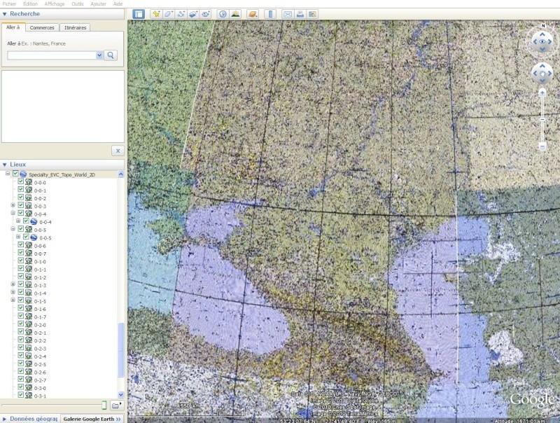 Cartes d'ArcGIS en overlay sur Google Earth Captu611