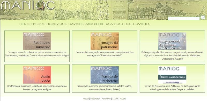 MANIOC Bibliothèque numérique Caraïbe, Amazonie, plateau des Guyanes. Captu654