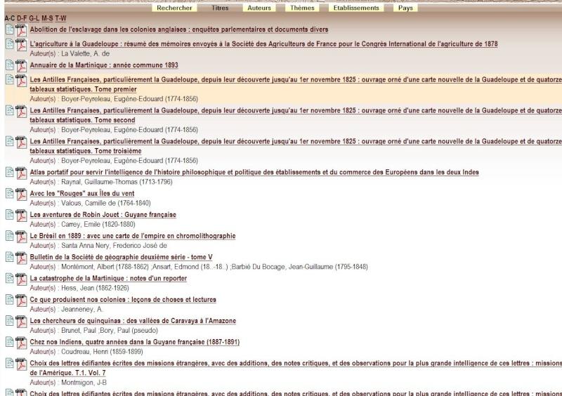 MANIOC Bibliothèque numérique Caraïbe, Amazonie, plateau des Guyanes. Captu655