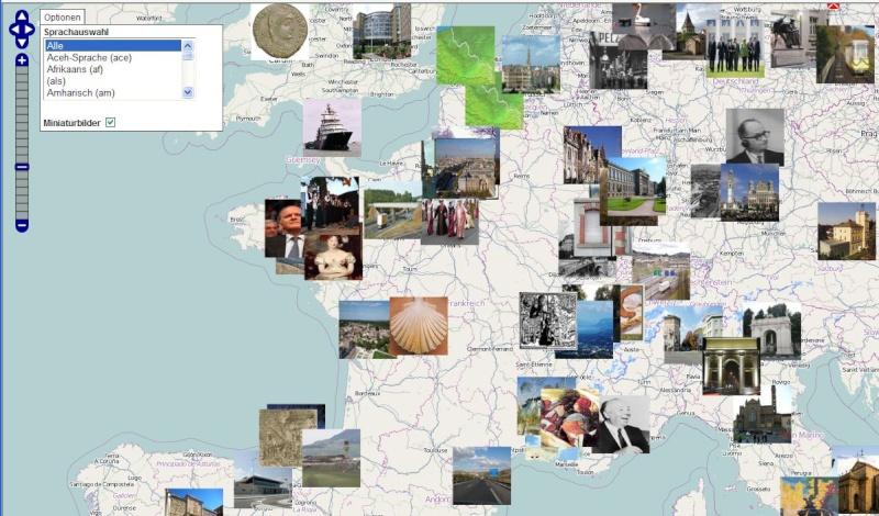 Carte dynamique vers les articles de Wikipédia. Captu672