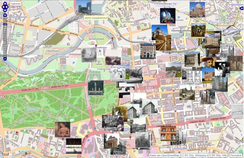 Carte dynamique vers les articles de Wikipédia. Captu673