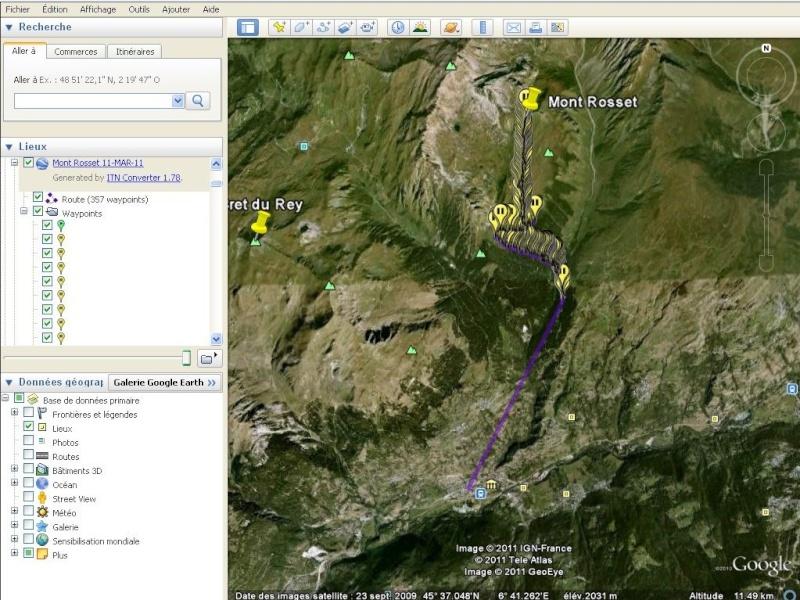Comment diviser une trace kml importée d'un GPS ? [Problème Google Earth résolu] Captu677