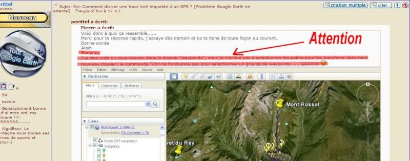 Comment diviser une trace kml importée d'un GPS ? [Problème Google Earth résolu] Captu679