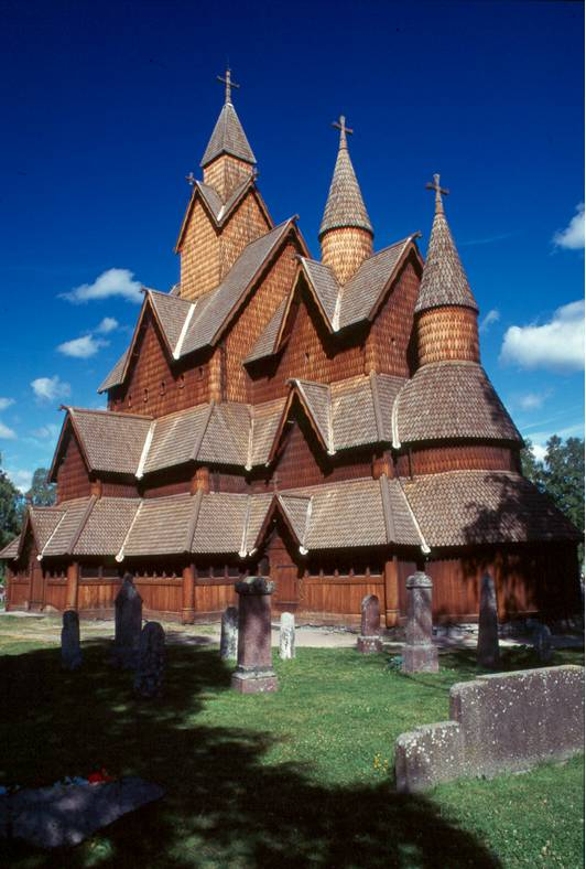 Stavkirke de Heddal (église en bois debout) - Telemark - Notodden - Norvège Captur81