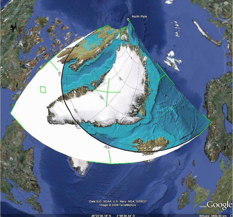 Essai - construction d'un overlay des zones polaires sur GE Captur88